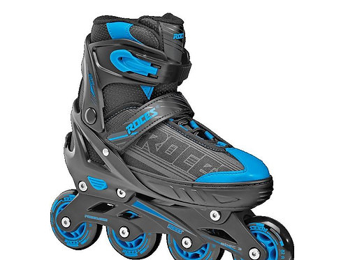 PATIN ROCES JOKEY BOY EXTENSIBLE Negro/Azul