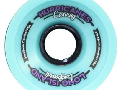 Long Island Hurricanes Carving wheels 69x55mm 78A blue