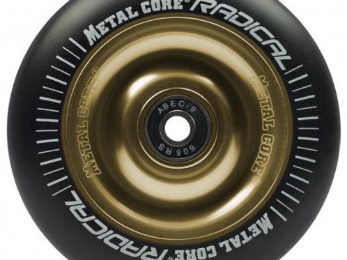 Rueda Metal Core RADICAL 110mm goma negra núcleo dorado