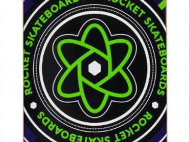 SKATEBOARD ROCKET MAZE GREEN 7.5  IN