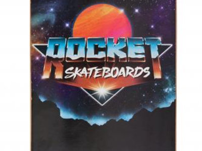 SKATEBOARD ROCKET FUTURE BLACK	7.5  IN