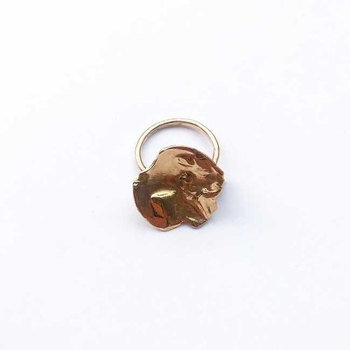 Textured Disc Signet Ring