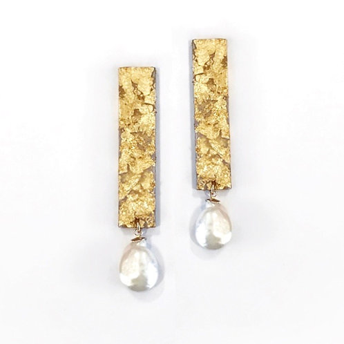 Freshwater Pearl Acetate Earrings