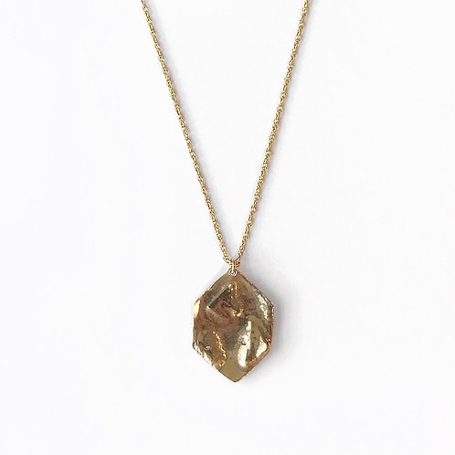 Textured Hexagon Necklace