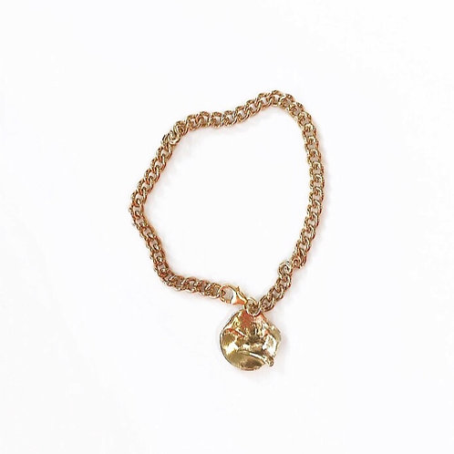 Textured Disc Bracelet / Anklet