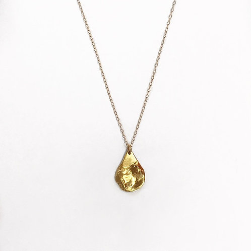 Textured Teardrop Necklace