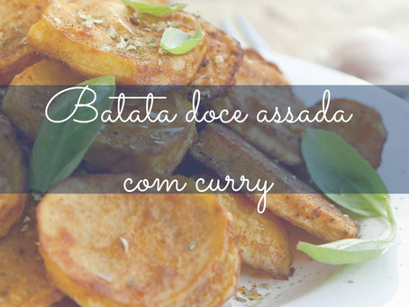 Batata Doce assada com Curry