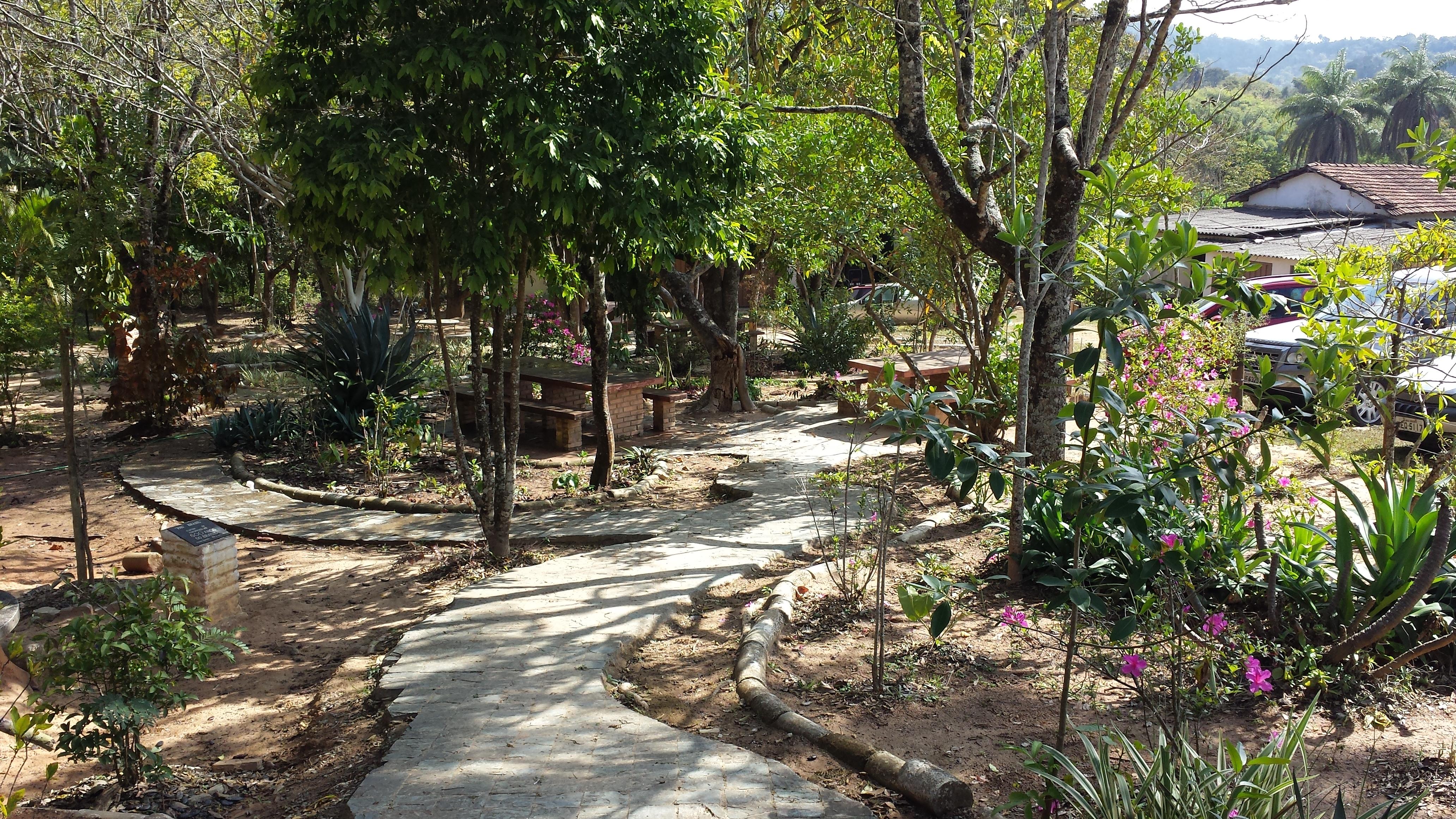 Jardim em Frente a Sede