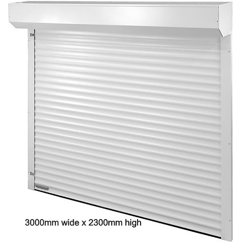 300mm wide x 2300mm high C77 White Roller Shutter Garage Door