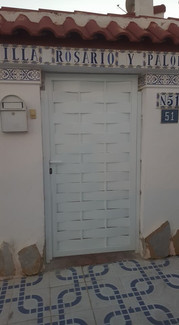 White Pedestrian Entrance Gate
