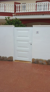 White Panel Entrance Gate
