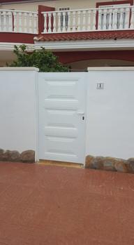 White Panel Entrance Gate