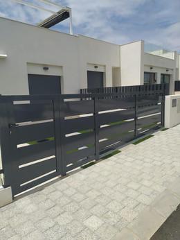 RAL 7016 Aluminum Electric Sliding Gate