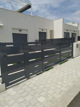 RAL 7016 Aluminum Electric Sliding Gate