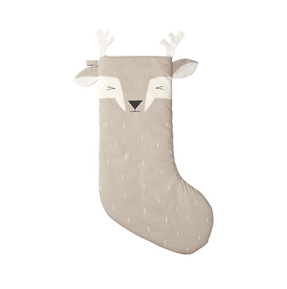 Chaussette de Noël renne beige