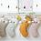 Thumbnail: Chaussette de Noël renne beige