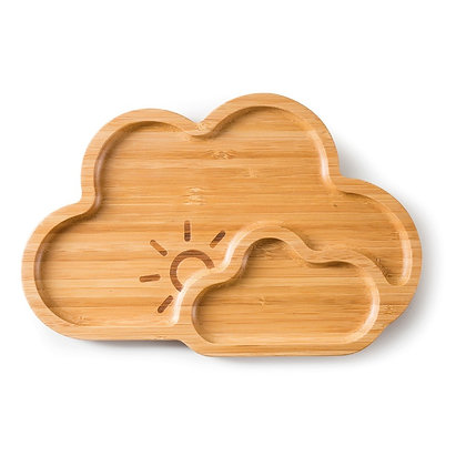 "Bamboo plate ""Cloud"""