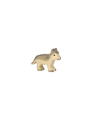 Figurine loup petit en bois - Animaux des bois Holztiger