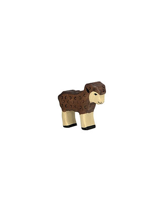 Figurine agneau noir Holztiger - Animaux de la Ferme (Jouet en bois)