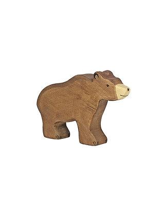 Figurine ours brun en bois - Animaux de la jungle Holztiger
