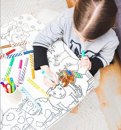 Table de coloriage - Les drôles de bouilles