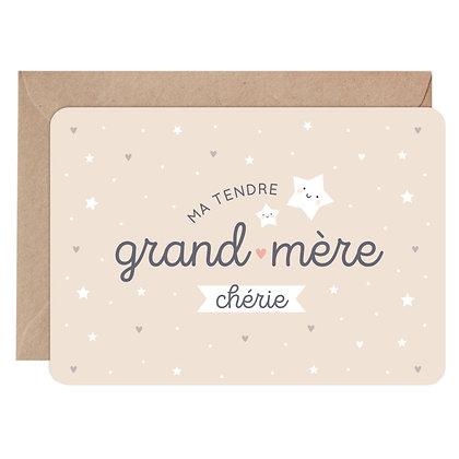 CARTE MA TENDRE GRAND-MÈRE