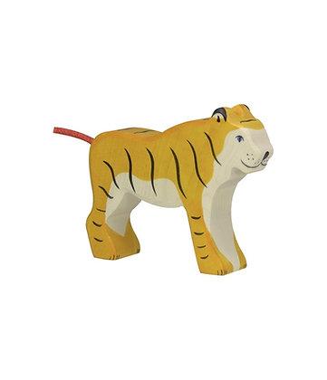 Tigre, Debout- Figurine En Bois HOLZTIGER
