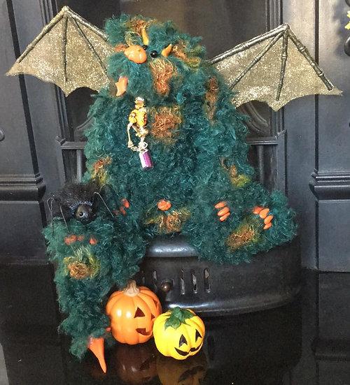 Bela - the Halloween Pumpkin Dragon and Boris his guardian spider