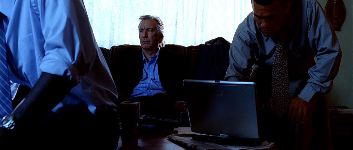 alan rickman (eli michaelson) sits power