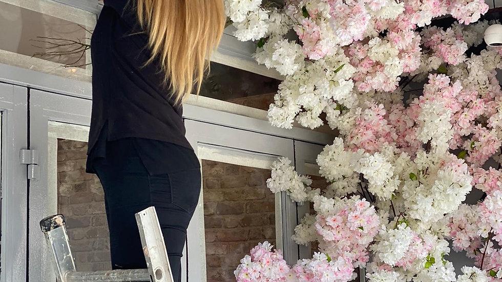 Bespoke Silk Floral Design