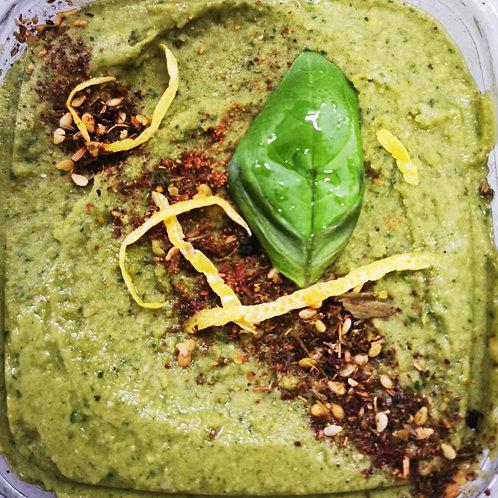 Hummus cu spanac, pătrunjel și busuioc 375gr