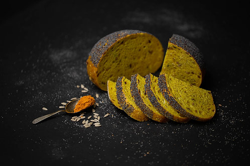 Pâine cu turmeric și miez de floarea soarelui prăjit 500 gr
