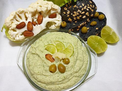 Pate de conopidă cu migdale și măsline verzi 250gr