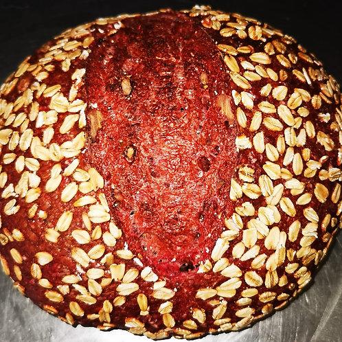Pâine cu sfeclă roșie și nuci coapte 600 gr