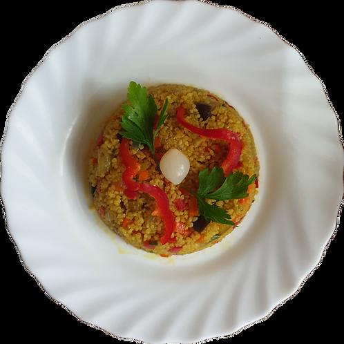 Cuscus cu legume, curry și scorțișoară 250gr