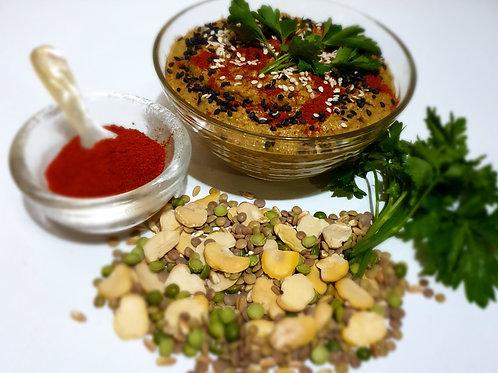 Pate de lupin cu mazăre și boia de ardei dulce 250gr