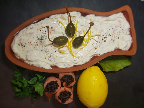 Crema de brânză cu somon și capere 250gr
