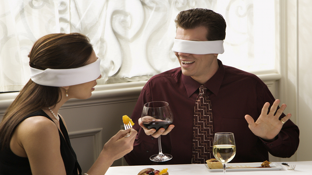 The blind dating