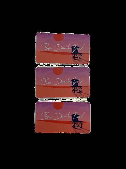 sunset stickers (set of three)