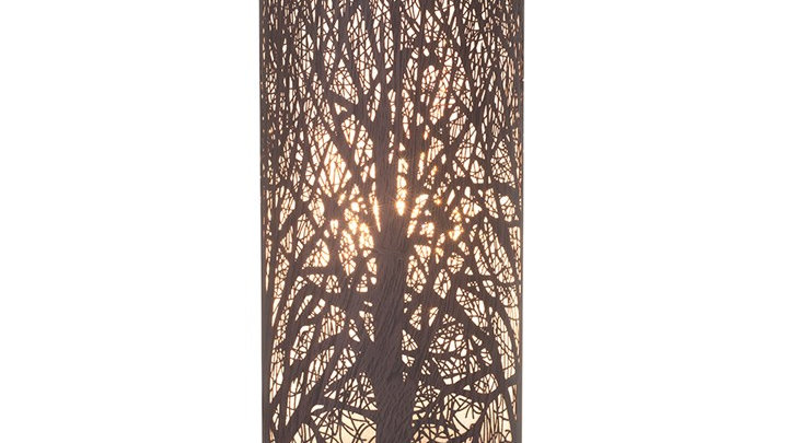 26CM WALNUT EFFECT TREE AROMA TOUCH LAMP