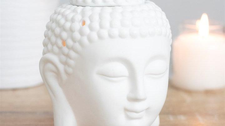 WHITE BUDDHA HEAD OIL/WAX BURNER