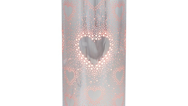 26CM RED AND SILVER HEART AROMA TOUCH LAMP