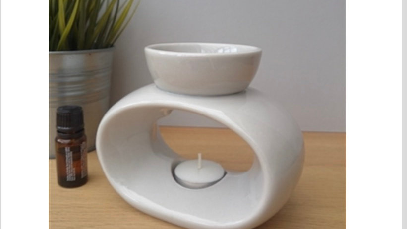 Elegance Ceramic Wax Melter - Light Grey