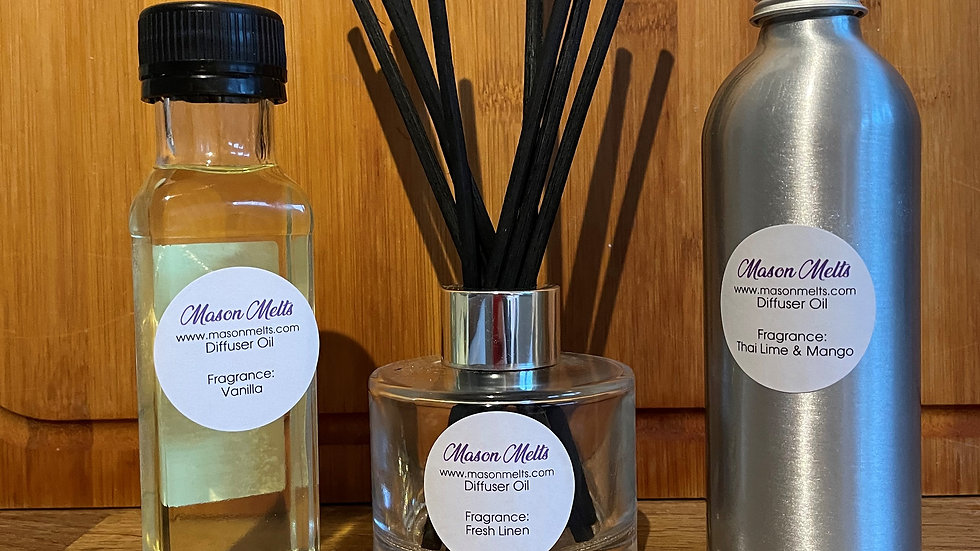 Clear glass Reed Diffuser (50ml) including oil
