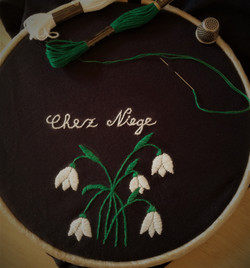 snow drops embroidery