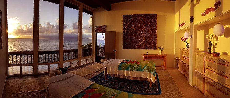 Massage Suite During Sunset