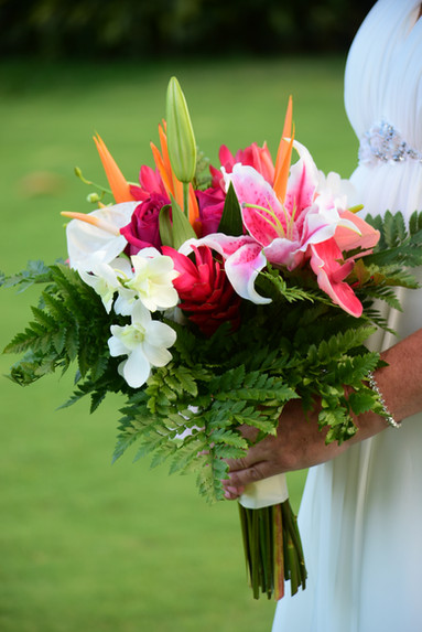 Hand Tied Tropical Bouquet