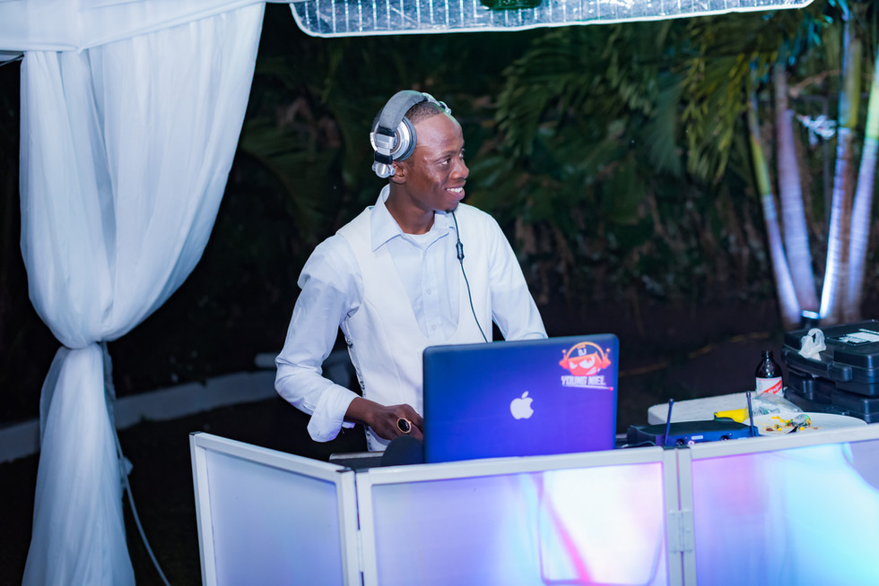 DJ Booth with lights