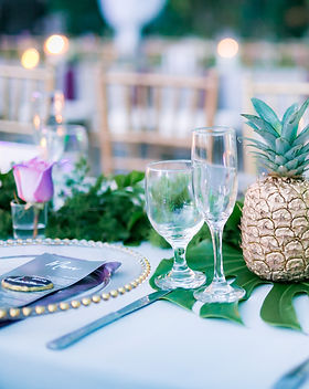gold pineapple with pillar candles.jpg