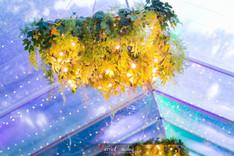 greenery chandeliers